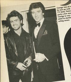George Michael meets one of his idol Patrick Duffy (Dallas George Michael Music, Michael Love, Beautiful Person, Gorgeous Men, Patrick Duffy, Dallas Tv, Andrew Ridgeley, Careless Whisper, Record Producer