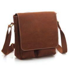 Handmade Superior Crazy Horse Leather Messenger Satchel / Ipad Bag Ipad2 Bag/leather bags P90 -- $98
