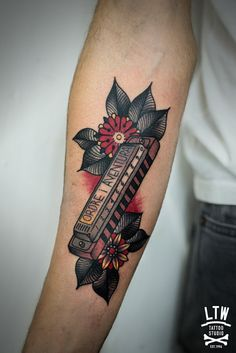 Harmonica Tattoo by Cisco