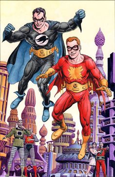 "Kandor, Superman has no superpowers; in the story, he is branded an outlaw there due to a misunderstanding. To disguise themselves, Superman and Jimmy Olsen create vigilante identities inspired by Batman and Robin. Because neither bats nor robins lived on Krypton, Superman chooses the names of two birds owned by his Kandorian friend Nor-Kan: ""Nightwing"" for himself and costumes evocative of the birds' plumage, and Flamebird for Jimmy."