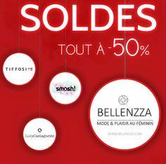 TOUTES LES MARQUES SONT À -50% SUR WWW.BELLENZZA.COM !