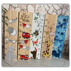 toy illustration I am happy to present this article from my shop at measuring stick, children's measuring stick, measuring stick . Home Crafts, Diy And Crafts, Birth Gift, Baby Drawing, Creation Deco, Wooden Crafts, Baby Decor, Kids Gifts, Woodworking Crafts