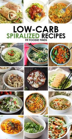 Low Carb Spiralized Recipes - an amazing collection of healthy dinner ideas full of sauce, salad and side recipes! Ditch the pasta and start spiralizing!