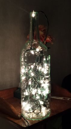 Wine Bottle Night Light by HomemadeByMyHands on Etsy, $15.00