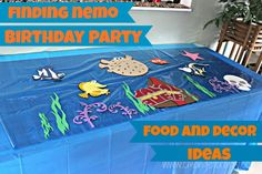See how easy and frugal you can decorate and plan a Finding Nemo Birthday Party with these great tricks! Golden Birthday Parties, 2nd Birthday, Birthday Ideas, Finding Nemo, 1st Birthdays, Baptism Favors, Crafty, Woody, Frugal