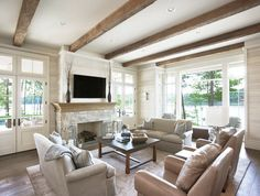 Lake Front Country Estate - traditional - Living Room - Other Metro - Markalunas Architecture Group