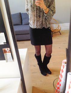 Ma mini jupe doublée avec fermeture éclair invisible !!!!