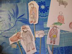 Krippenfiguren zum Spielen zur Geschichte die vier Lichter des Hirten Simon Bilder zum Runterladen Downlaod