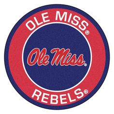 Mississippi Rebels NCAA Rounded Floor Mat (29in)
