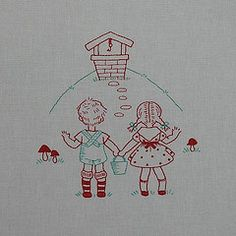 "Embroidery Design Idea- Classic Nursery Rhymes ""Jack & Jill"""
