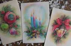 Christmas Cards  Box of 13 Unused With by smileitsvintage on Etsy