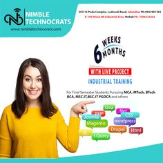 Hurry UP!! Get 6 weeks industrial training in HTML5, PHP, JAVA, .NET, CSS3, DRUPAL, Digital Marketing, Web Designing, Mobile Apps Contact us to enroll now! Call: +91-9041001302