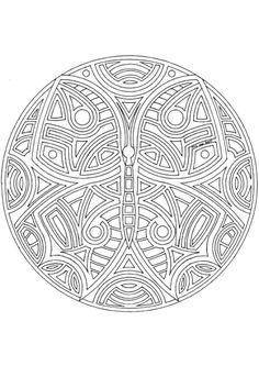 Coloriage mandala papillon {various geometric mandalas}