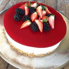 Cheesecake med hindbærgele | Mummum
