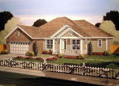 House Plan 61415 | Craftsman Traditional Plan with 1894 Sq. Ft., 4 Bedrooms, 3 Bathrooms, 2 Car Garage at family home plans