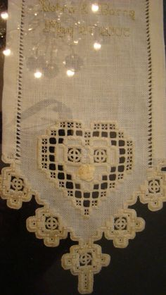For my wedding.  Hardanger embroidery!