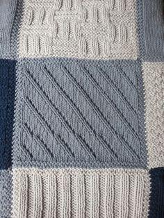 Comme Promis, Voici Un Billet Décrivant Plaid Crochet, Crochet Quilt, Knit Crochet, Granny Square Crochet Pattern, Crochet Blanket Patterns, Loom Knitting, Baby Knitting, Patchwork Patterns, Patchwork Baby