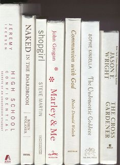 Books By The Half Foot, Lot of 5-6 hardcover books in bright white, Instant Library, Staging, Big shelf-filler set, wedding, office book lot by CalhounBookStore on Etsy