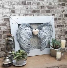 These beautiful angel wings will look heavenly hanging anywhere in your home and they're super easy to make too. #DIYHomeDecor Angel Wings Wall Art, Angel Wings Wall Decor, Angel Art, All You Need Is, Wall Decor Amazon, Diy Angels, Wing Wall, Wooden Angel, Dress Up Boxes