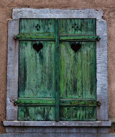 French Windows, Old Windows, Windows And Doors, Alsace, Shutter Doors, Window Shutters, Antique Doors, Window View, Urban Sketching