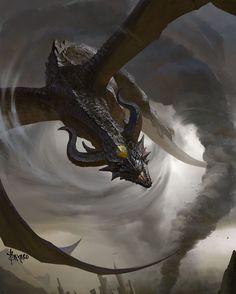 """Storm Dragon"" Art by Bayard Wu  #Dragon #Fantasy #Art #Artist #ConceptArt #DigitalArt by heroic_comics"