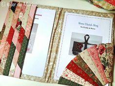 El taller de Maricú  Carpeta porta patrones de tela Creations, Patches, Notebook, Blog, Cover, Ideas Para, Art, Cape Clothing, Ideas For Christmas