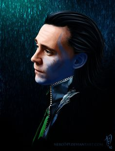 Who am I by *Nero749 on deviantART (Loki Laufeyson, Tom Hiddleston, Avengers Fanart)
