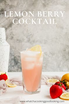 This Lemon Berry Cocktail is two ingredients and absolutely amazing. Perfect spring cocktail, summer cocktail, and quarantine cocktail! Lemon Vodka Drinks, Fruit Drinks, Beverages, Refreshing Summer Cocktails, Spring Cocktails, Smoothies For Kids, Fruit Smoothies, Cocktail Maker, Raspberry Lemonade