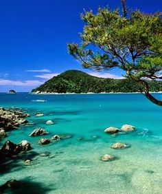 New Zealand,Abel Tasman National Park,Photograph by Matthieu Colin.The pristine beaches, intriguing rock formations, and turquoise waters of Abel Tasman National Park entice more than visitors each year. Dream Vacation Spots, Dream Vacations, Vacation Days, Italy Vacation, Places To Travel, Places To See, Abel Tasman National Park, Foto Poster, New Zealand Travel