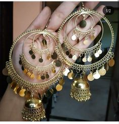 Indian Jewelry Earrings, Temple Jewellery, Bridal Jewelry, Jewelery, Silver Jewelry, Jhumkas Earrings, Gold Ruby Necklace, Jewelry Closet, Indian Accessories