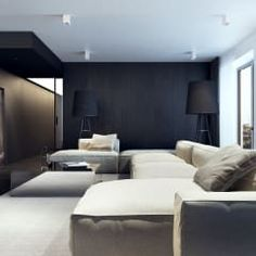 Salas de estar minimalistas por KUOO ARCHITECTS