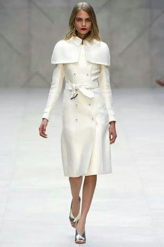 Winter white Burberry Coat - $1600