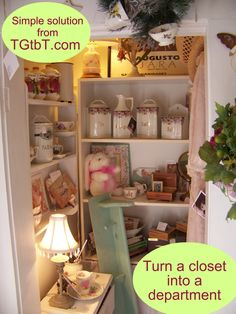 Too Good to be Threw believes even closets can SELL!
