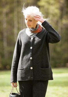 Kuvioneulottu pusero villaa – Mukavia neuleita – GUDRUN SJÖDÉN - vaatteita verkossa ja postimyynnissä