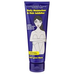 COMPLETELY BARE BODY MOISTURIZER & HAIR INHIBITOR, $10: If you prefer going bare below the equator, Completely Bare's lemongrass-scented moisturizer is proven to reduce hair density and growth by 50% after one month's use. | AMAZING BEAUTY PRODUCTS YOUR VAGINA WILL BE THANKFUL FOR