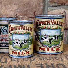 Click HERE to view Vintage Milk Cans , set of 8 $79 at HudsonGoods ...