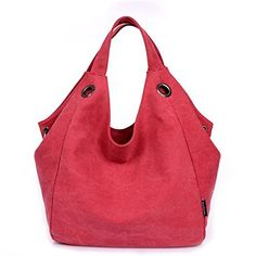 New Trending Shopper Bags: TianHengYi Womens Big Capacity Canvas Double Top Handle Tote Handbag Vintage Hobo Shoulder Bag Shopper Red. TianHengYi Women's Big Capacity Canvas Double Top Handle Tote Handbag Vintage Hobo Shoulder Bag Shopper Red   Special Offer: $29.99      411 Reviews Characteristics :Material: Canvas Closure: zipperDimension : 12.6″ L X 11.4″ H X 7″ W,it fit iPad,11″ laptop...