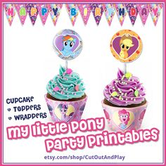 My Little Pony Birthday, Pony Party printables, Decorations, party favors, party supplies, birthday banner, Pinkie pie, kids party, supplies #Mylittlepony #pinkiepie #twilightsparkle #applejack #Mylittleponycard #Mylittleponypaper    #Mylittleponydecor #Mylittleponyparty #MylittleponyScrapbook #Mylittleponybirthday #Mylittleponyart My Little Pony Cupcakes, My Little Pony Birthday, My Little Pony Party, Preschool Toys, Party Ideas, Gift Ideas, Pinkie Pie, Felt Toys, Art Market