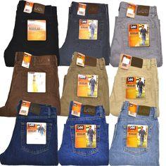 Lee Mens Jeans Regular Fit Denim Straight Leg Classic 20089 All Sizes New