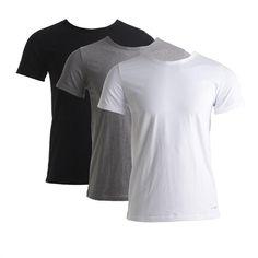 Tommy Hilfiger – 3-Pack Crew Neck t-shirt – Zwart/grijs/wit T-shirts L