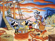 Mickey Mouse Sails for Treasure Island by Floyd Gottfredson, April 1980.