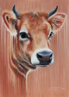 """""""The Gentle Beast"""" PanPastel, Pastel and Charcoal pencil on Pastelmat paper, by artist Joanne Barby.  Follow at www.facebook.com/JoBarby Instagram & Twitter @JoanneBarby"""