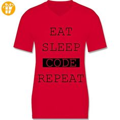 Programmierer - Eat-Sleep-Code-Repeat - S - Rot - L151 -
