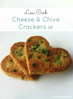 #LowCarb #Glutenfree can be made #Vegan Cheese Cookie/Crackers. These are amazing to use in dip or soup! Perfect for the cooler weather coming along :) So easy make! http://www.damyhealth.com/2013/03/11-of-the-best-healthy-cookie-recipes/