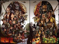 Predator 1 & 2 Set by Clinart Studios Alien Vs Predator, To Catch A Predator, Predator Movie, Predator Alien, Fan Poster, Movie Poster Art, Halloween Horror Movies, Labyrinth Movie, Aliens Colonial Marines