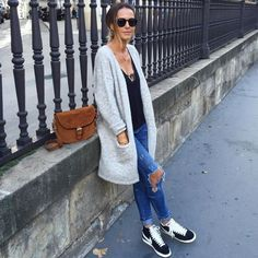 Cute Comfy Outfits, Mom Outfits, Nike Outfits, Winter Outfits, Nike Blazers Outfit, Look Jean, Sneakers Looks, Casual Sneakers, Look Blazer