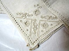 10 Lefkara Napkins Vintage linens Ten linenhand by PiccadillyHill