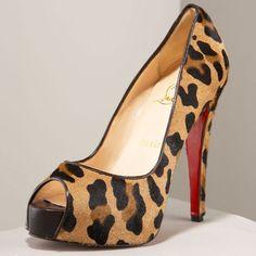 Louboutin Leopard Print shoes...wants.