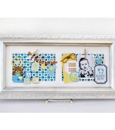 David Tutera Celebrate Card:  Baby Boy Wall Hanger