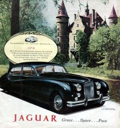 1955 Jaguar Mark VII Original RARE Color Ad | eBay